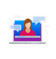 isometric video streaming view video lessons vector image vector image