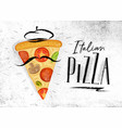 italian pizza slice italian pizza slice vector image
