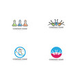lab logo icon template icons vector image vector image