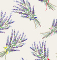 Lavender seamless pattern - handdrawn style vector image