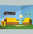 living room interior in cartoon style vector image vector image