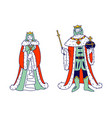medieval royal family members king and queen vector image