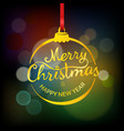 merry christmas and happy new year wishing card vector image vector image