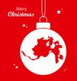 merry christmas theme with map of cincinnati ohio vector image vector image