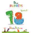 number 10 in form a dinosaur vector image vector image