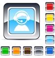 operator square button vector image vector image