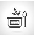 Organic cream simple line icon vector image vector image
