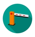 Parking barrier icon in flat style isolated on vector image vector image