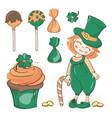 patrick party saint day cartoon vector image