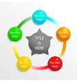 Presentation diagram elements vector image