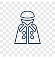 raincoat concept linear icon isolated on vector image
