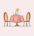 restaurant table with reservation vector image