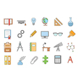 School elements icons set vector image vector image