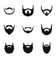 shave icons set simple style vector image