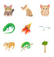 small animal icons set cartoon style vector image vector image