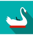 Swan children carousel flat icon