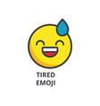 tired emoji line icon sign vector image vector image