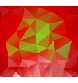 Triangle background Red polygons vector image vector image