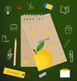 Welcome back to school with paper note vector image vector image
