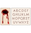 wound alphabet vector image vector image