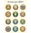Zodiac signs theme Set of mandalas with libra