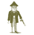 Engraved Cartoon Pirate vector image