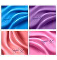 colorful silk backgrounds vector image