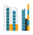 Gas oil production industry business concept of vector image