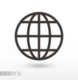 globe flat icon sign planet vector image