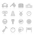 motor sports and racing icons vector image