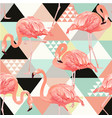 exotic beach trendy seamless pattern patchwork vector image