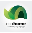 Abstract eco house logotype concept isolated on vector image vector image