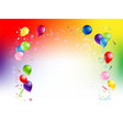 background bright holiday balloons vector image