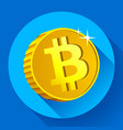bitcoin gold coin with bitcoin symbol vector image vector image