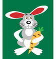 Bunny and carrot vector image