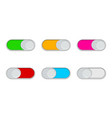 buttons enable and switch off toggles ui vector image vector image