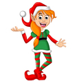 Christmas elf posing vector image