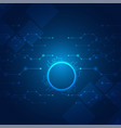 circle hi tech technology blue background i vector image