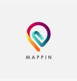 clip map pin logo icon office pin logo icon vector image vector image