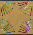 color pencils on table vector image vector image
