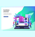 concept human resources banner presentation vector image