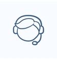 Customer service sketch icon vector image