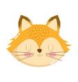 cute animals head fox cartoon isolated icon design vector image vector image