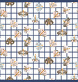 cute moth seamless pattern vector image