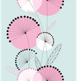 dandelions flowers seamless pattern vector image vector image