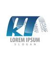 digital curved initial letter mk logo concept vector image vector image