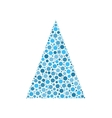 Dotted christmas tree vector image