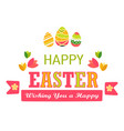 easter holiday isolated icon chicken and cracked vector image