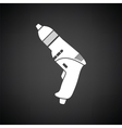 Electric drill icon vector image vector image
