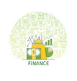 finance concept banner vector image vector image